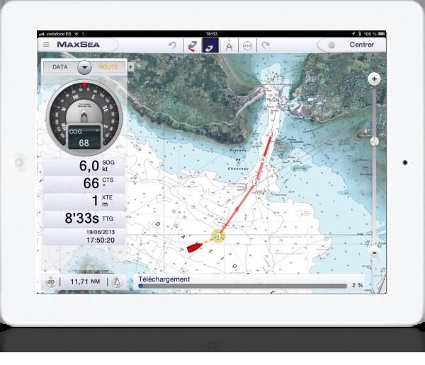 Avec l'application maxsea timezero, vous pouvez créer des routes et