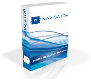 Marine navigation software - TZ Navigator