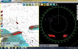 Dual Nav Radar and 3D Raster chart